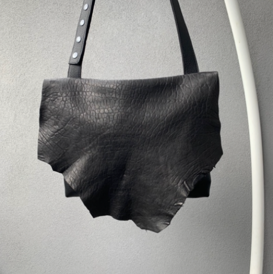 RAW LEATHER BAG