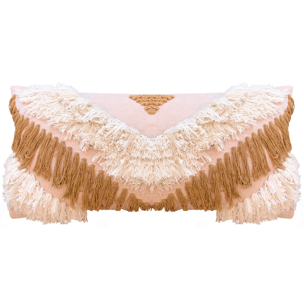 TRIBE FRINGE CUSHION COVER RECTANGLE