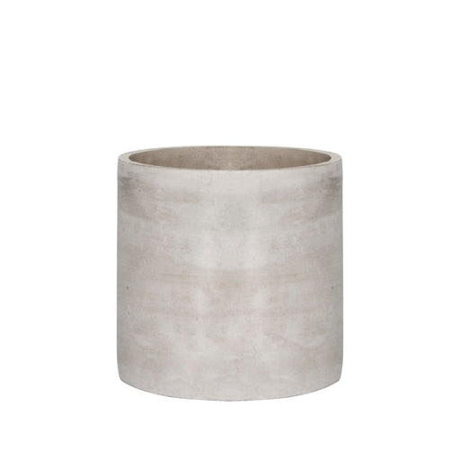 Grey Cement Pot - Cylinder