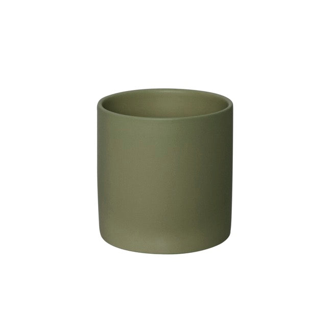Cylindrical Pot - 'Olive'