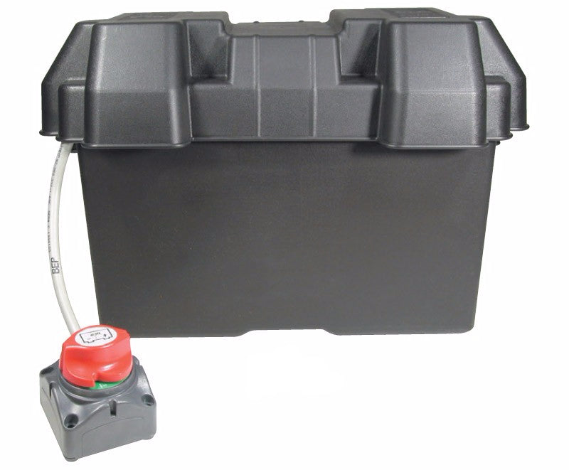 Battery Box With Master Switch - Large