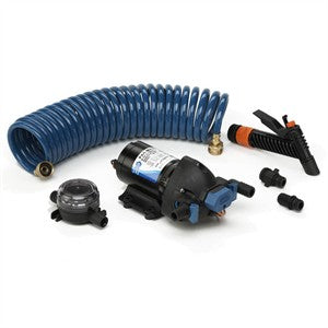 JABSCO WASHDOWN KIT FILTER NOZZLE HOSE 12v 15L 60PSI