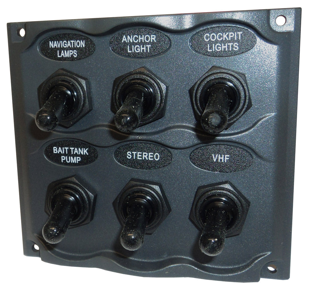 6 Way Spray Proof Switch Panel