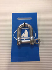 8mm - HOMER CAPTIVE PIN D SHACKLE 316 S/S