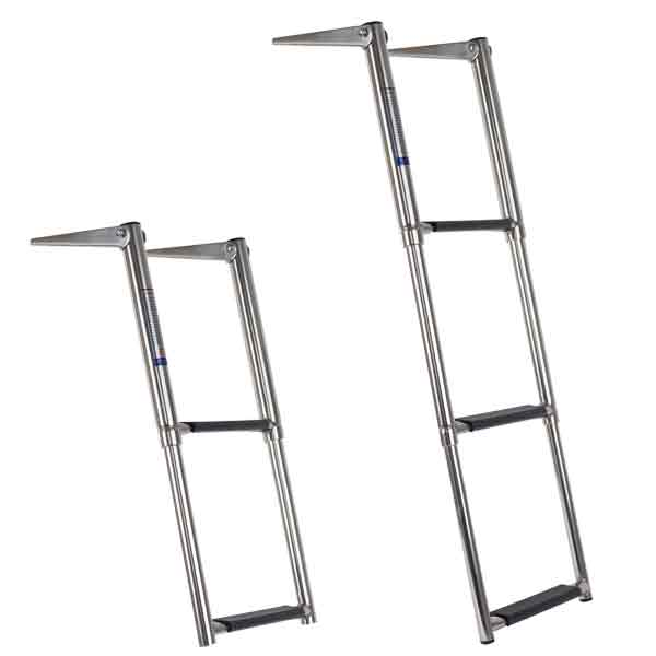TELESCOPIC LADDERS Stainless Steel - 3 Step