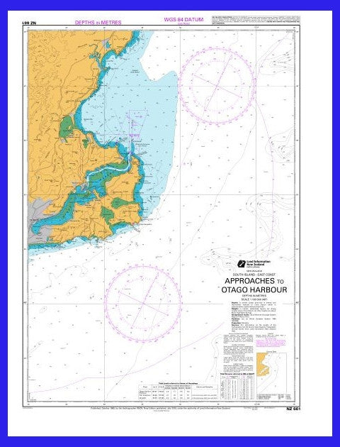 NZ Marine Chart - Approaches to Otago Harbour #661