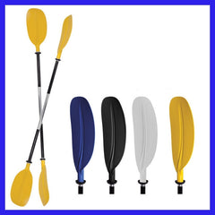 ASYMMETRIC FIXED SHAFT KAYAK PADDLE - Yellow