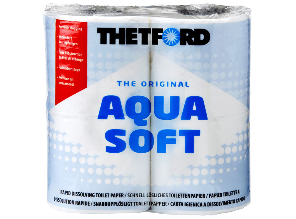 Aqua Soft Toilet Paper - 4 Pack
