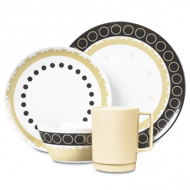 16 Piece Melamine Set - Mocha