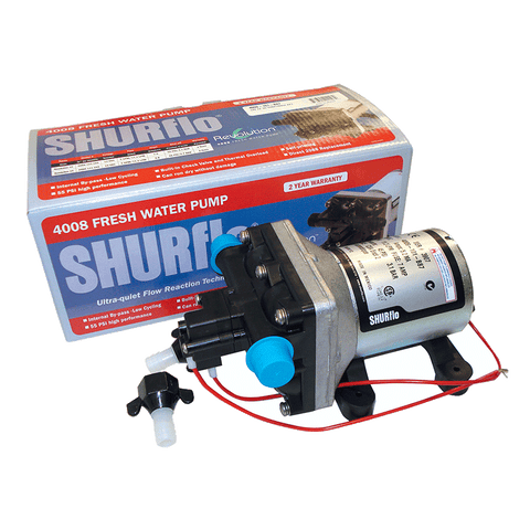 Shurflo 12V 4009 Water Pump With Fittings (C-Tick Approved)
