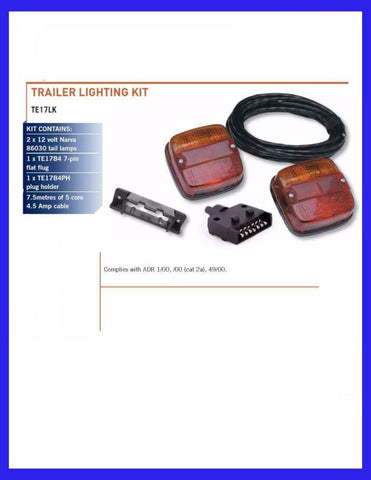 trailer lighting kit