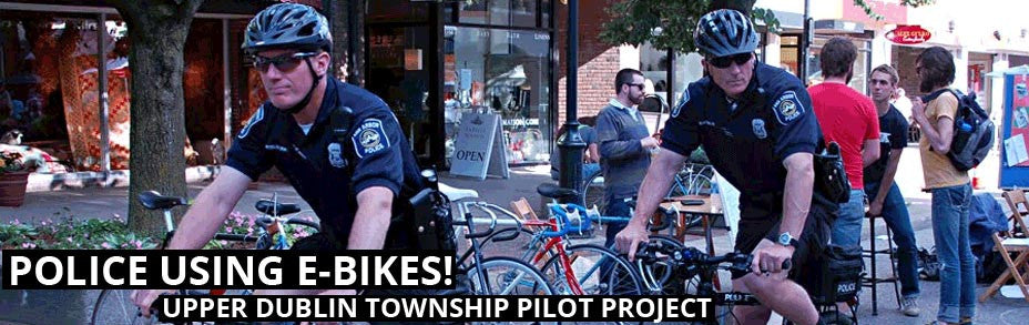 Police use E-BikeKit™ Conversion Kit for Patrol E-Bikes title=