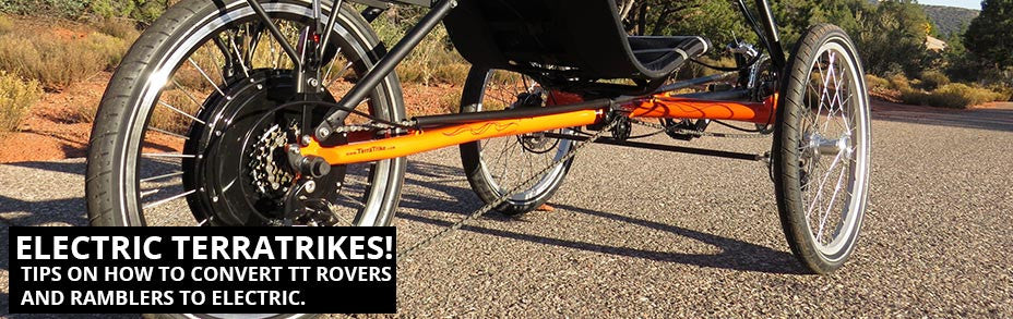 How to convert a TerraTrike recumbent tricycle to electric