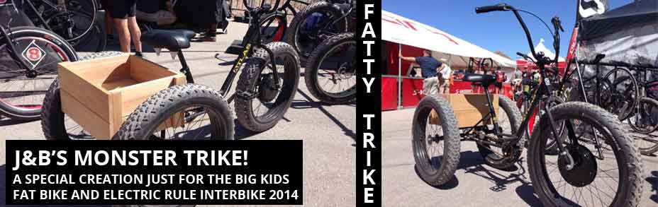 Fat electric trike from Sun and E-BikeKit™ at Interbike 2014 title=