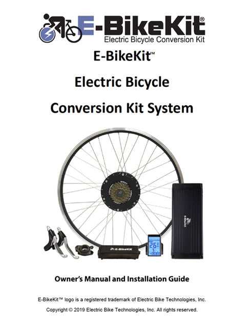 E-BikeKit Owner's Manual