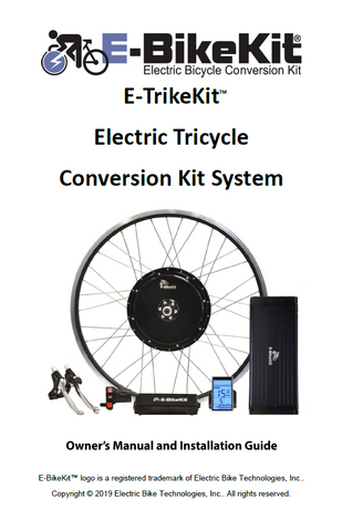 E-TrikeKit™ Owner's Manual