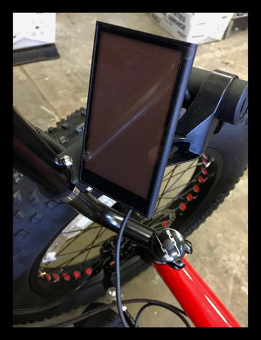To mount a lcd, horn, bell use the Topeak BarXtender