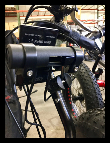 Topeak BarXtender attaches to the Fat-Tad frame
