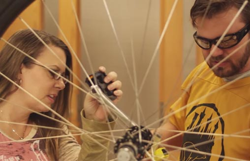 CFCC students build electric bikes
