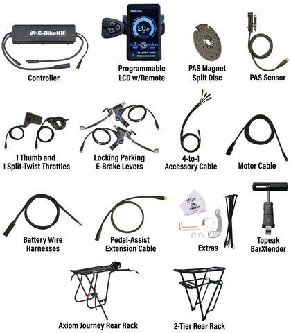 E-BikeKit includes these parts and extras for HP Velotechnik Gekko