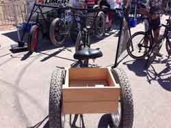 fat tricycle wooden battery box