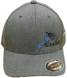 E-BikeKit FlexFit, Heatherlight, 6 panel, fitted cap