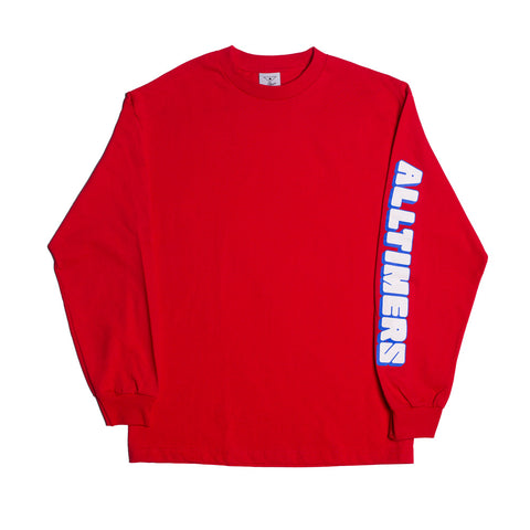 BLOCK LONGSLEEVE TEE RED
