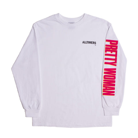 PRETTY WOMAN LONGSLEEVE TEE WHITE