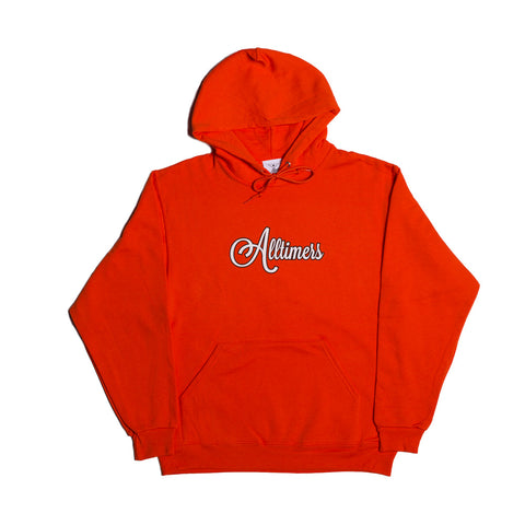 CURSIVE HOODY ORANGE