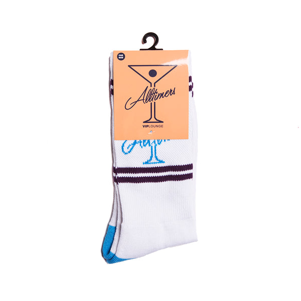 LEAGUE PLAYER SOCK WHITE/BLUE/PURPLE
