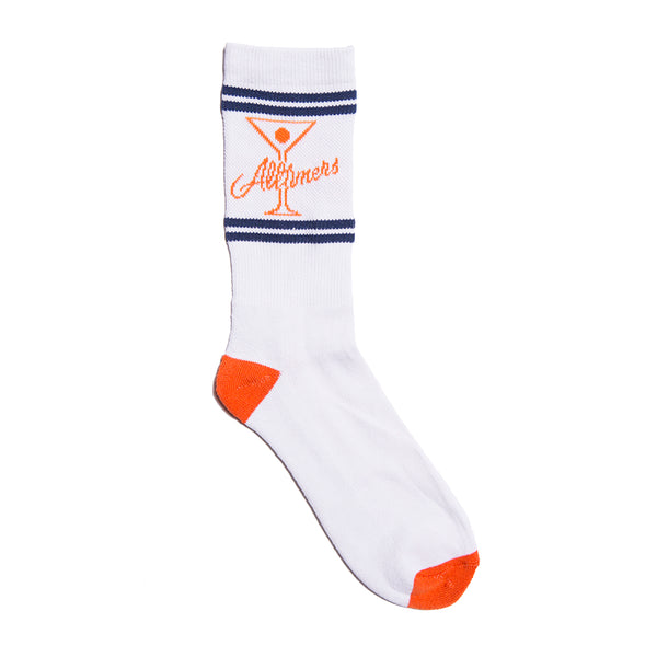 LEAGUE PLAYER SOCK WHITE/ORANGE/NAVY