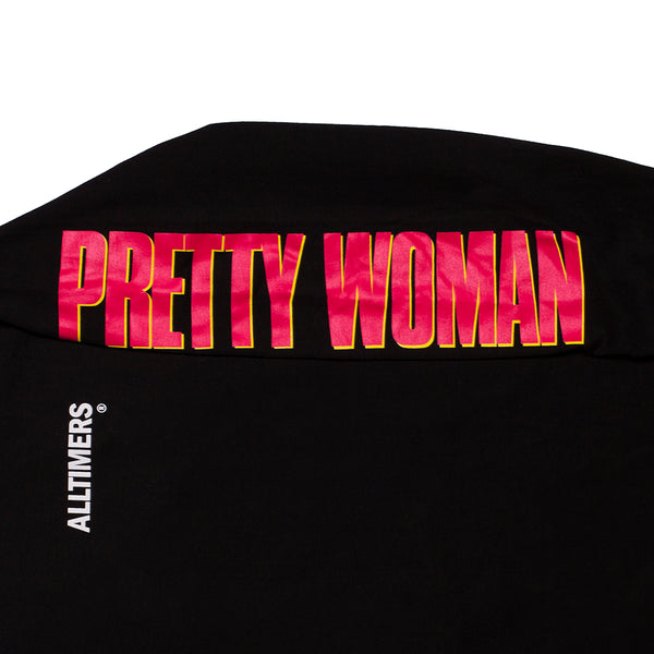 PRETTY WOMAN LONGSLEEVE TEE BLACK