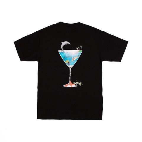 TROPICAL FANTASY TEE BLACK
