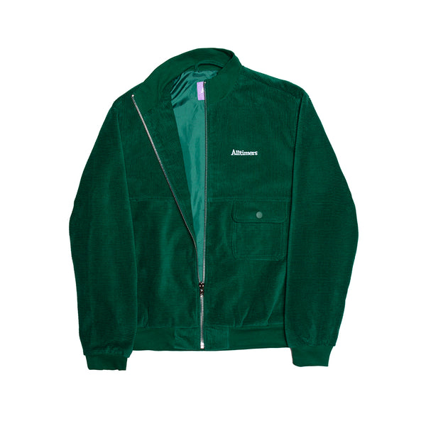 JEREMIH CORD JACKET FOREST GREEN