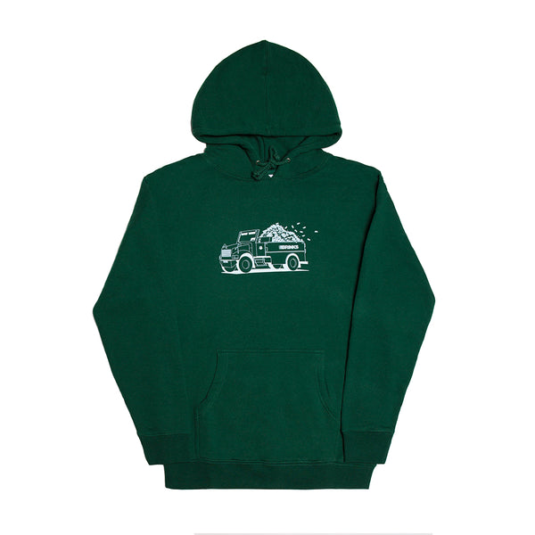 TOP DOWN HOODY FOREST GREEN