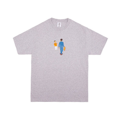 LAUGHING AT OPPS TEE HEATHER GREY