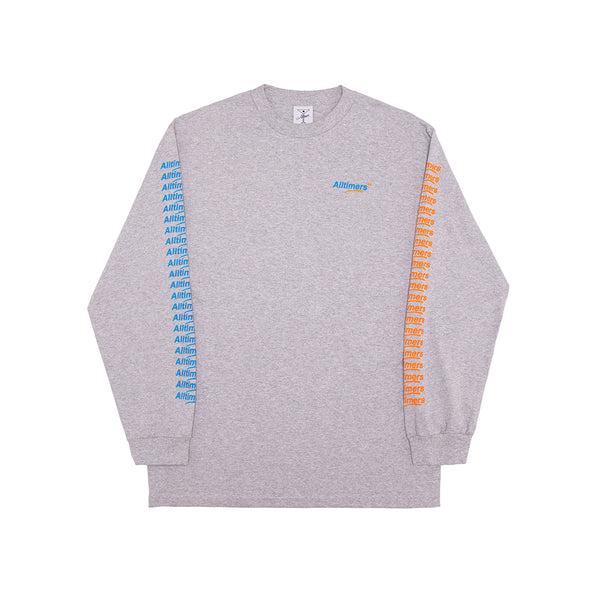 COUNT IT UP LONGSLEEVE TEE HEATHER GREY