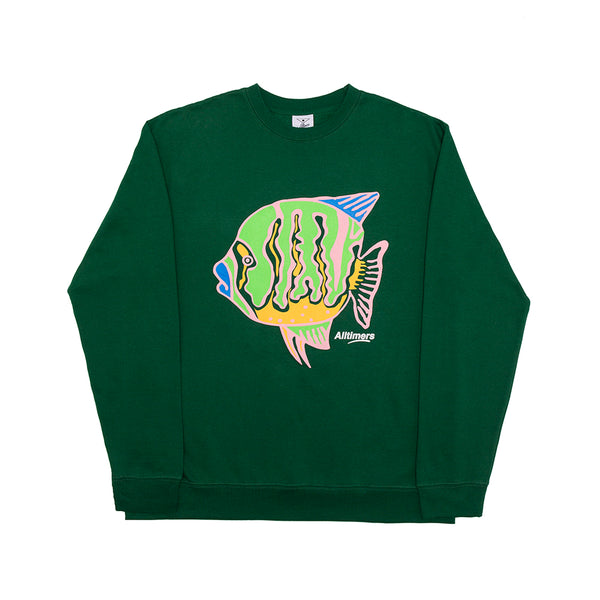 PUFFER FISH CREW FOREST GREEN