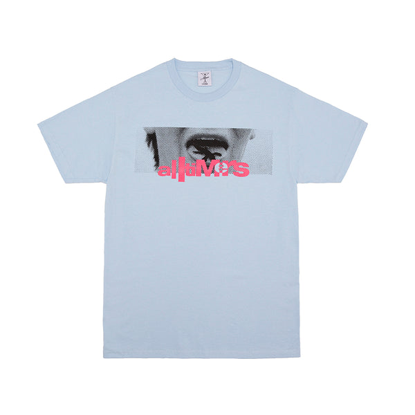 LIZZY TONGUE TEE POWDER BLUE