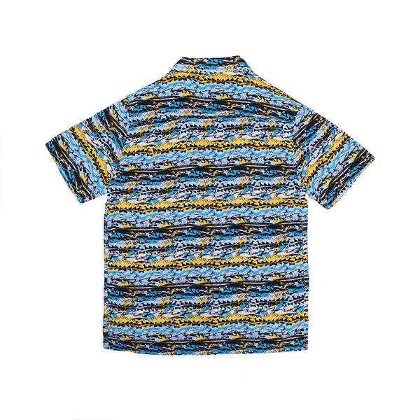 DADS MATRIX BUTTON UP BLUE