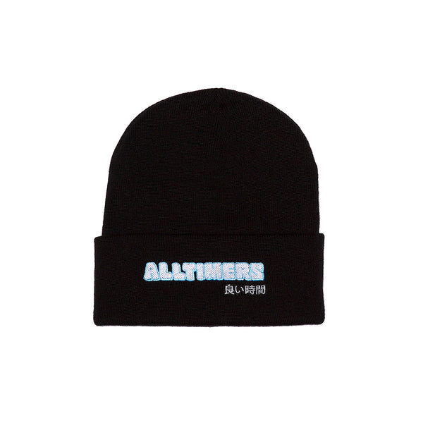 BLOCKED BEANIE BLACK
