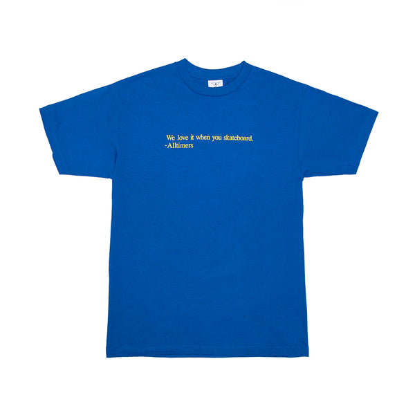LOVE IT TEE ROYAL BLUE
