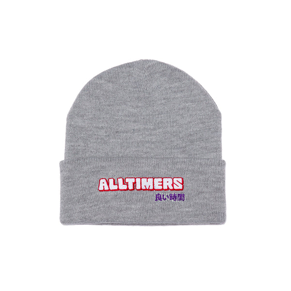 BLOCKED BEANIE HEATHER GREY