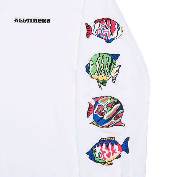 DEEP SEA LONGSLEEVE TEE WHITE