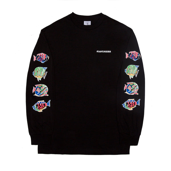 DEEP SEA LONGSLEEVE TEE BLACK