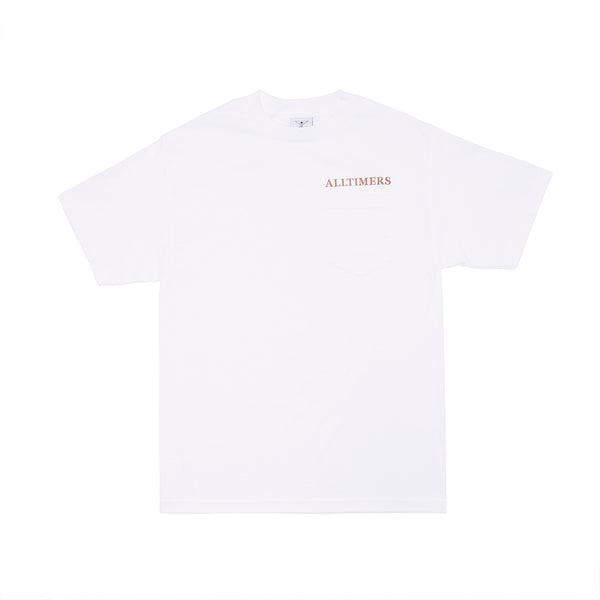 GROOVY POCKET TEE WHITE