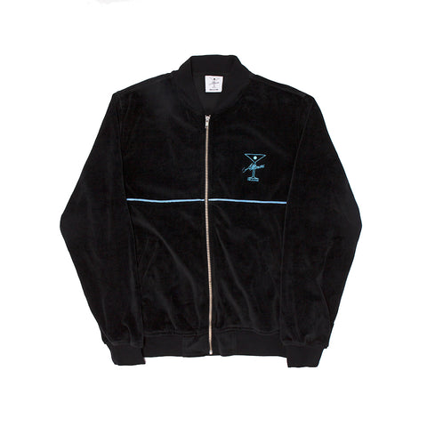 UNCLES VELOUR ZIP BLACK