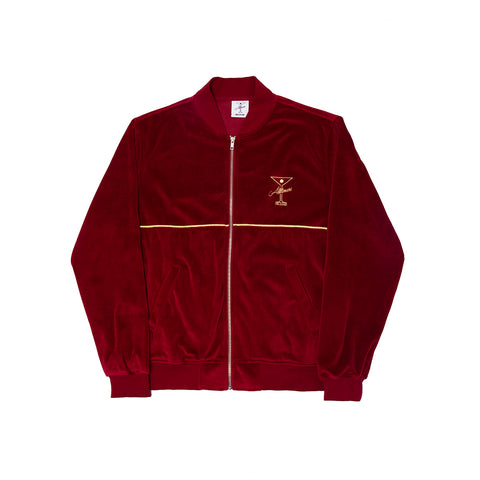 UNCLES VELOUR ZIP BURGUNDY