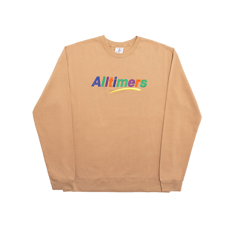 ESTATE EMBROIDERED CREW SAND
