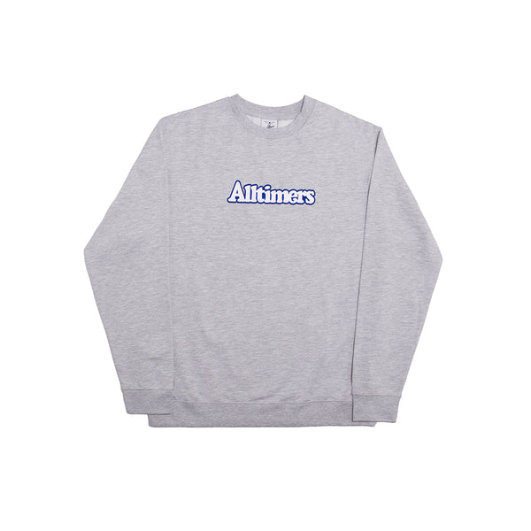 BROADWAY EMBROIDERED CREW HEATHER GREY